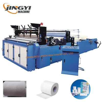 1575B Automatic Toilet Paper And Kitchen Towel Rewinding Machine
