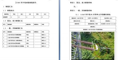 输电线路缺陷分析系统