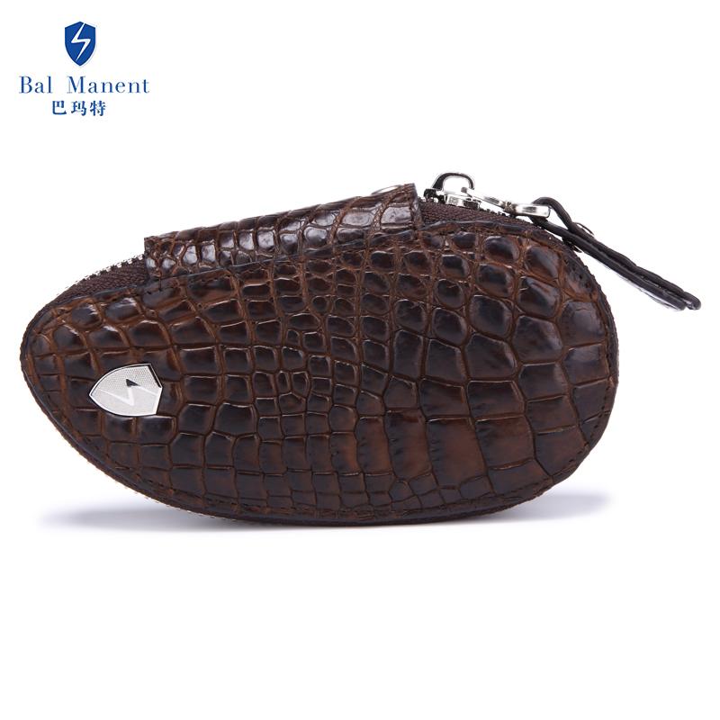 巴瑪特鱷魚皮***車鑰匙包鱷魚腳拉鏈大容量多功能男鑰匙扣零錢包