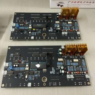 三代微电脑程序全镀金PCB板(元件面)