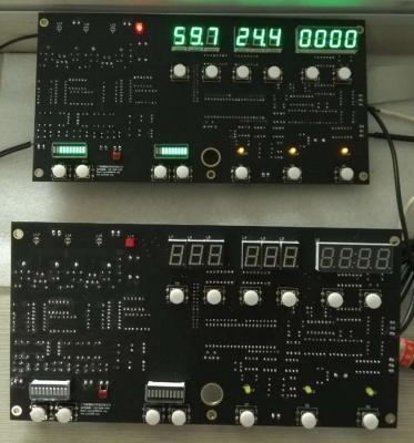 三代微电脑程序全镀金PCB板(显示面)