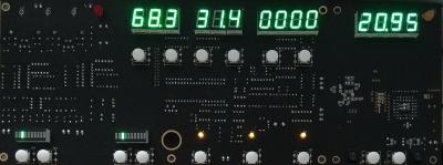 四代微电脑程序全镀金PCB板(上电显示面)