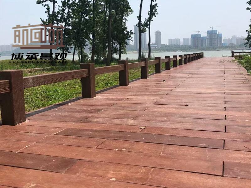 湖南长沙银星湾公园--仿木地板
