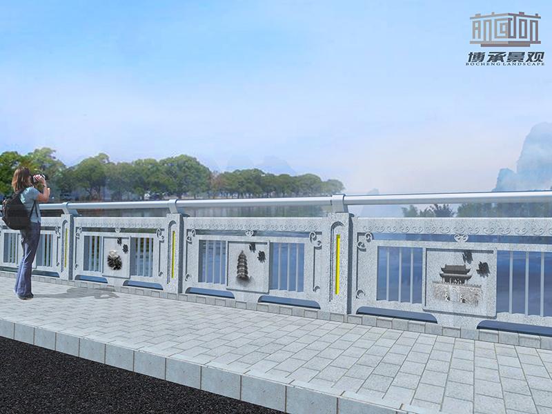江西景德镇建设大桥--组合式人行护栏