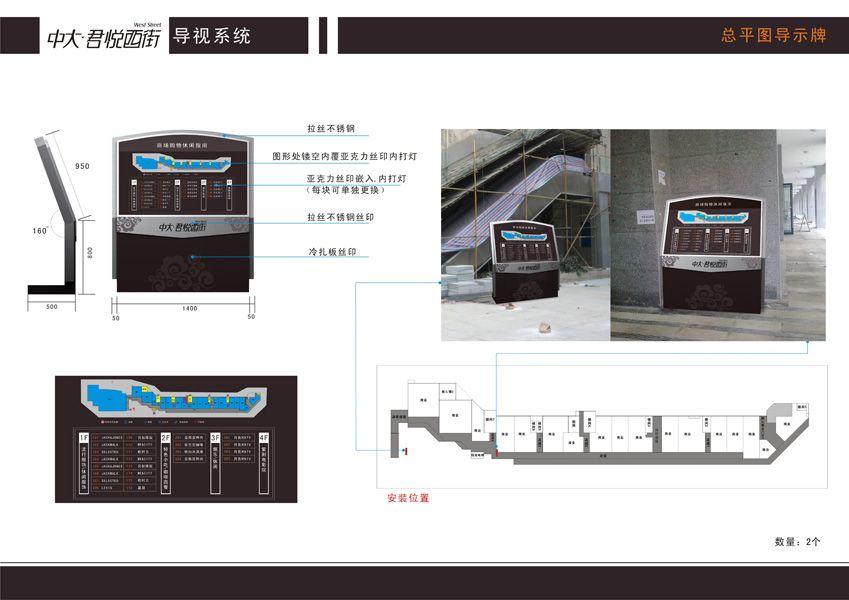 中大-君悦西街导视系统设计