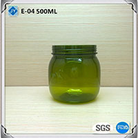 500ml 16oz pet plastic round jars