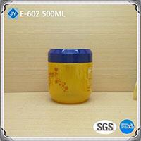 500ml 16oz Round Shape Plastic Material pet jar