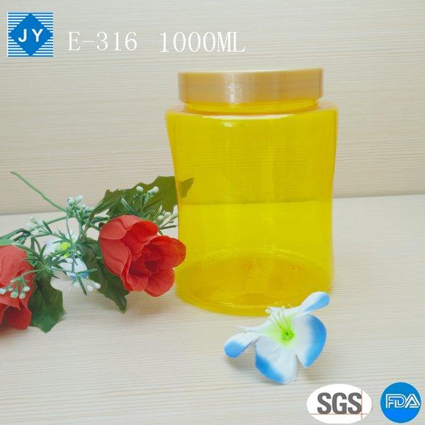 1000ml 33oz pet plastic jar
