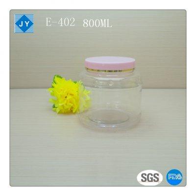 800ml Screw Cap Sealing Type pet plastic jar