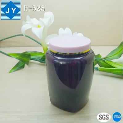 32oz 1000ml clear cosmetic plastic square jar