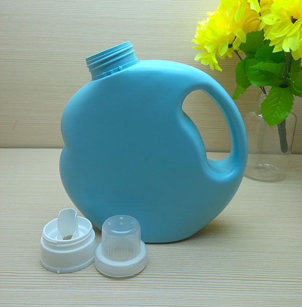 1L HDPE round laundry liquid detergent softener bottle