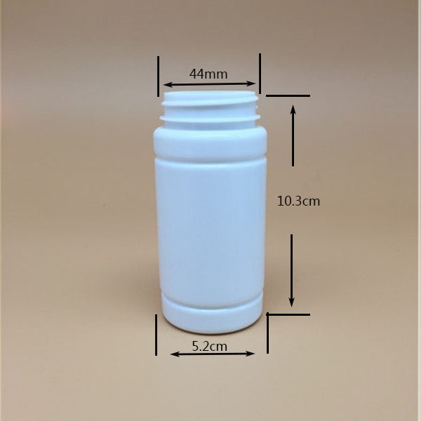 170ml 6oz HDPE round plastic white bottl psyllium husk powder/protein/vitamin tablet/ pill