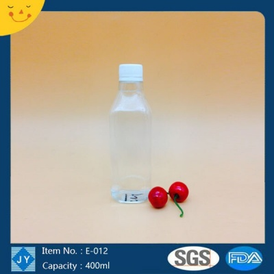 400ml 13oz pet plastic bottle for ketchup, sauces, water, shampoo, lotion