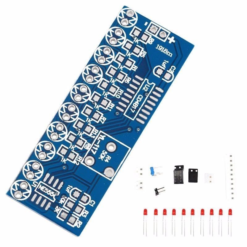 NE555+CD4017 Running LED Flow LED Light Electronic Production Suite DIY Kit