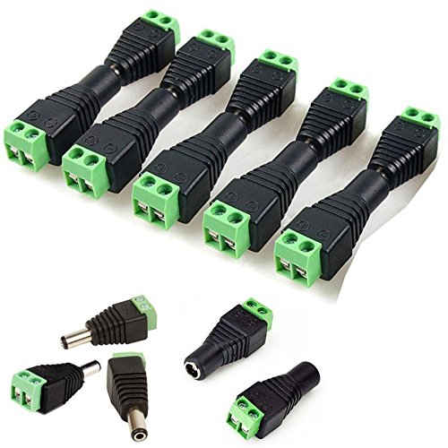 10Pair Male Female 5.5 X 2.1mm DC Power Plug CCTV 12V Power Terminal Connector
