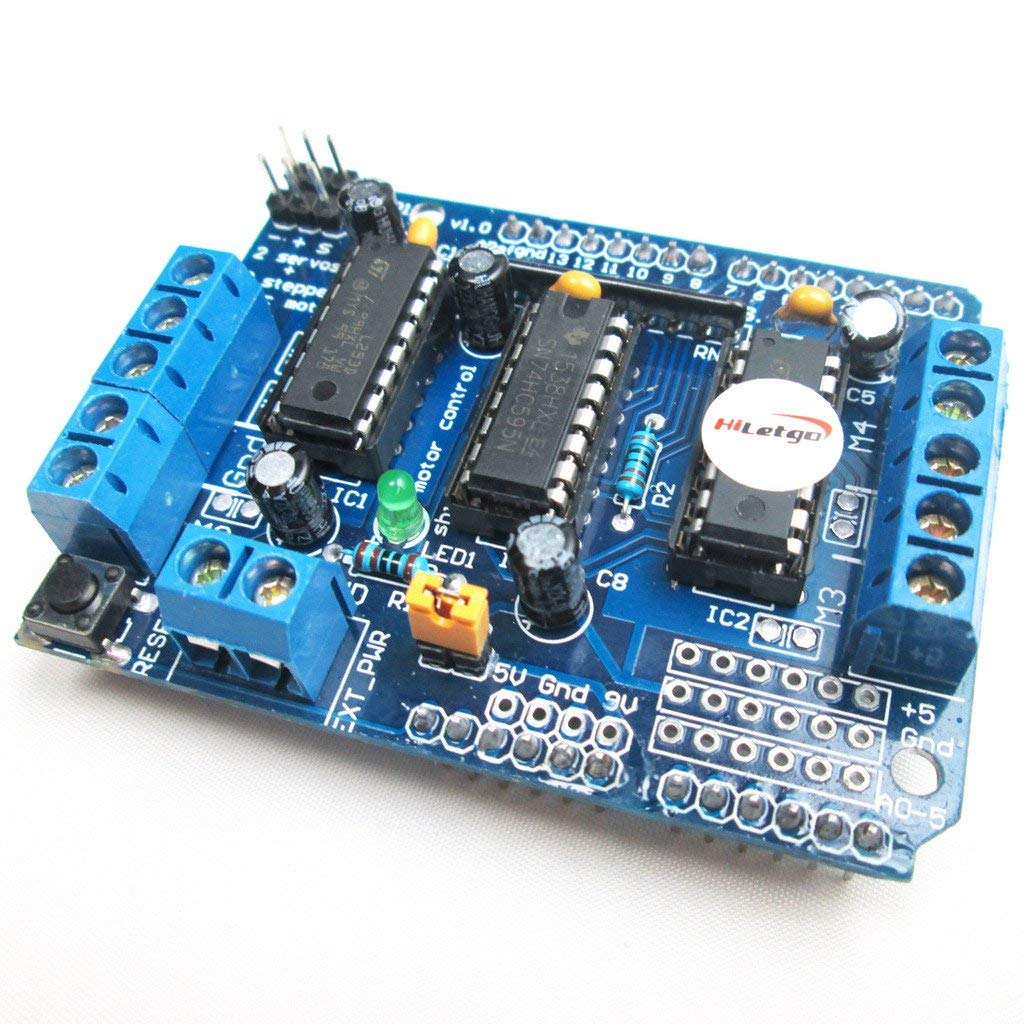 L293D Motor Driver Shield Compatible to Duemilanove Mega UNO R3 AVR ATMEL