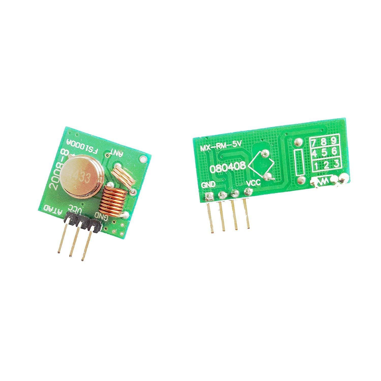 433MHz RF Wireless Transmitter and Receiver Module for Arduino/Arm/McU/Raspberry pi/Wireless DIY