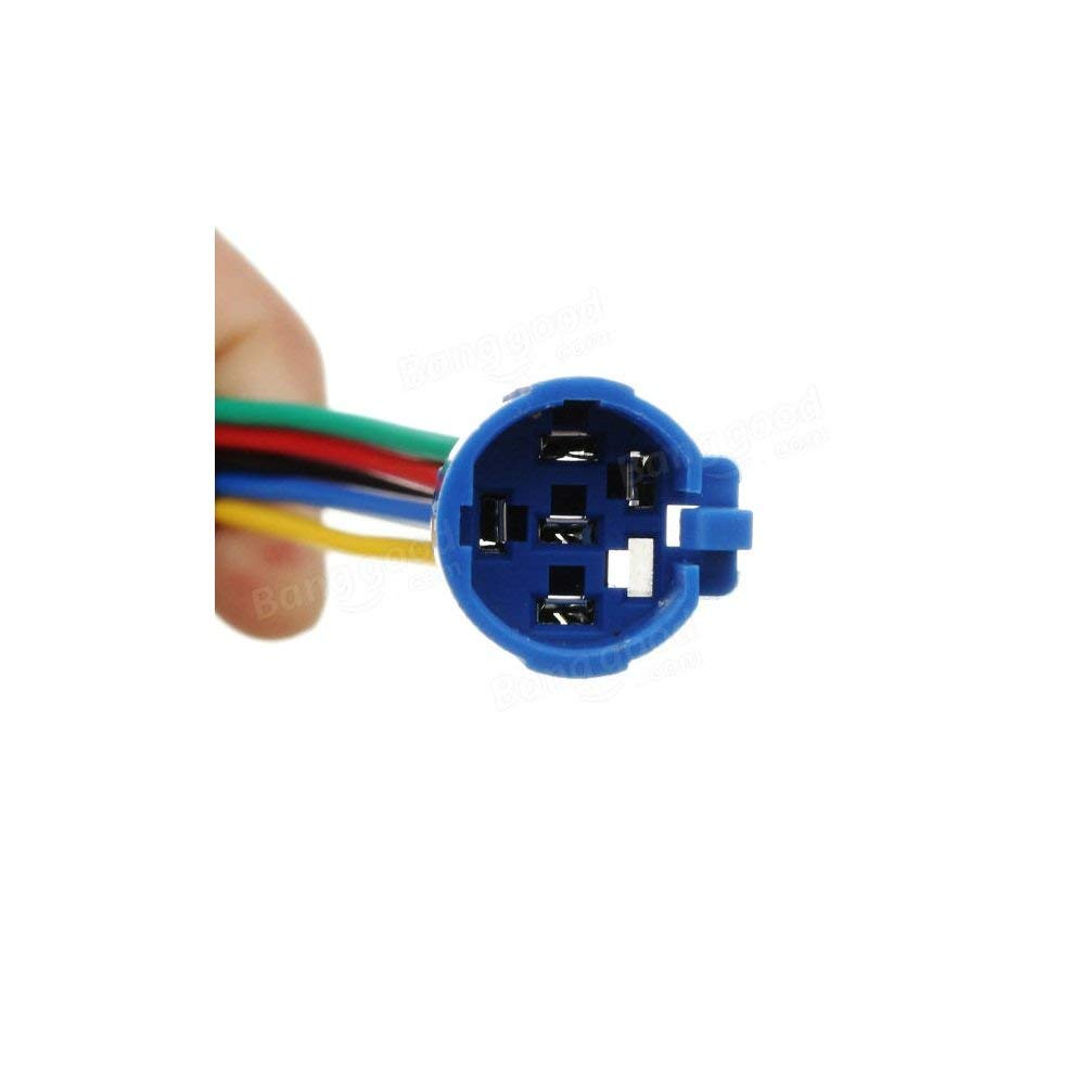 Latching Pushbutton Switch 16mm 12V 5A Power Angel Light Metal Toggle Switch with Wire Socket Plug