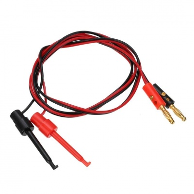 1 Pair 4MM Banana Plug To Test Hook Clip Test Lead Cable for Multimeter 1M