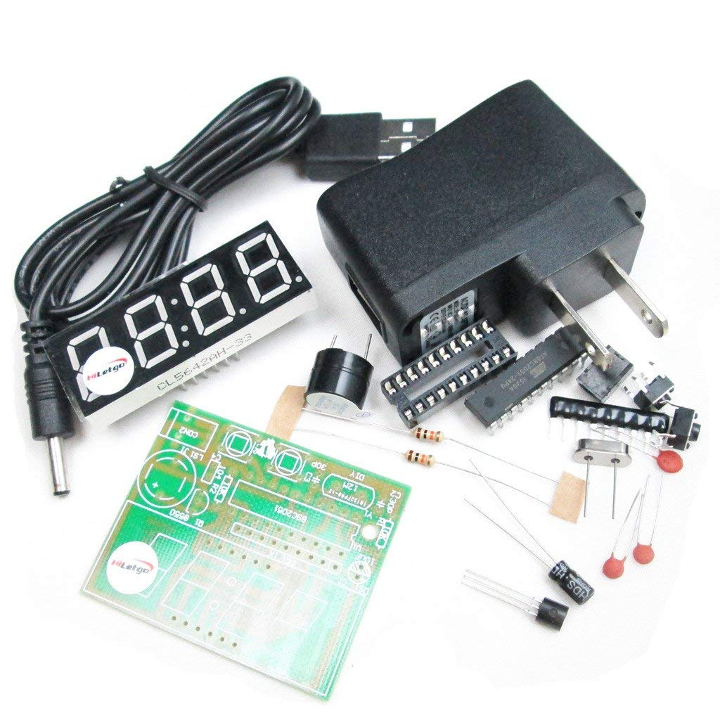 0.56 Inch 4 Bit Red Digital Tube Electronic Clock DIY Electronic Production Suite