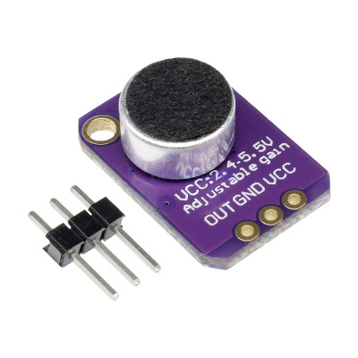 Electret Microphone Amplifier MAX4466 Module Adjustable Gain Blue Breakout Board for Arduino