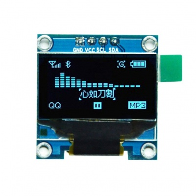 "0.96"" I2C IIC SPI Serial 128X64 OLED LCD Display 4 Pin Font Color Blue"