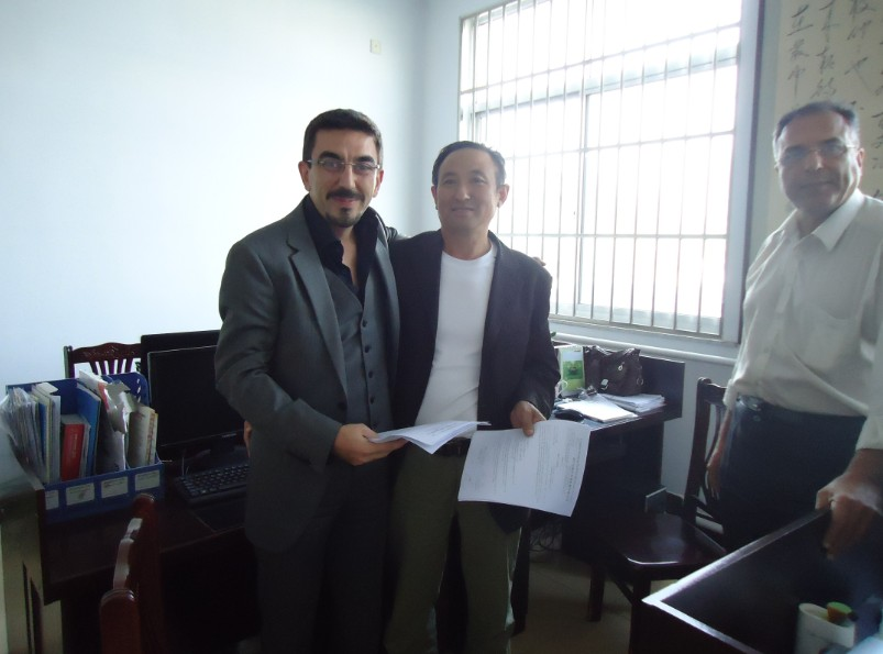 Turkey client visited and purchased FC-ZMG4-32 egg tray machine