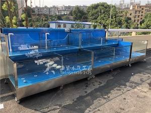 衡阳生鲜市场海鲜池 海鲨水族工厂定制