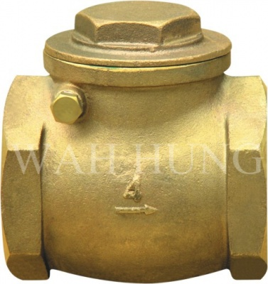 WH027 Copper Alloy Swing Check Valve With Screwed Ends