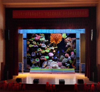 Indoor P4 led display at school hall 69.2sq.m