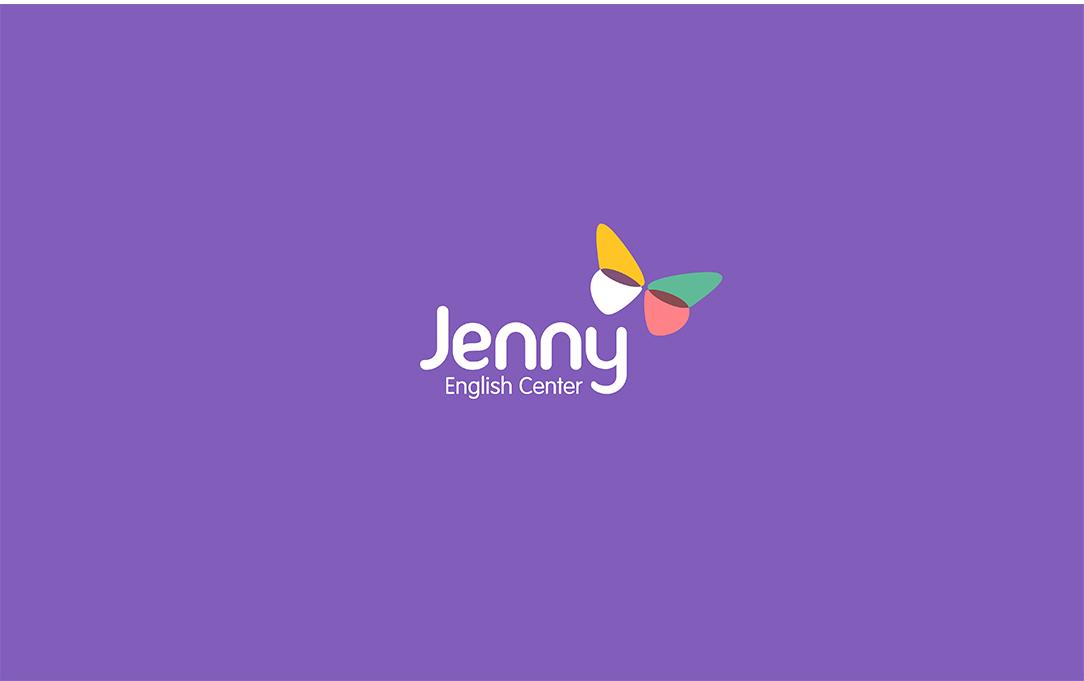#教育品牌VI设计欣赏#一组很棒的儿童英语培训品牌logoVI设计,珍妮英语学院 