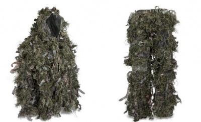 Hybrid Woodland Camouflage Ghillie Suit Lightweight