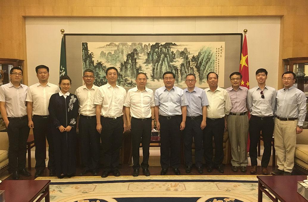 泛亚董事长陪同广东省和广州市领导...
