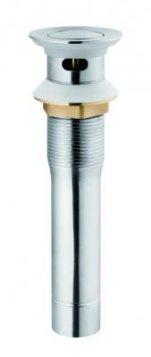 60-02017 翻盖下水器(有溢水口)(铬色)