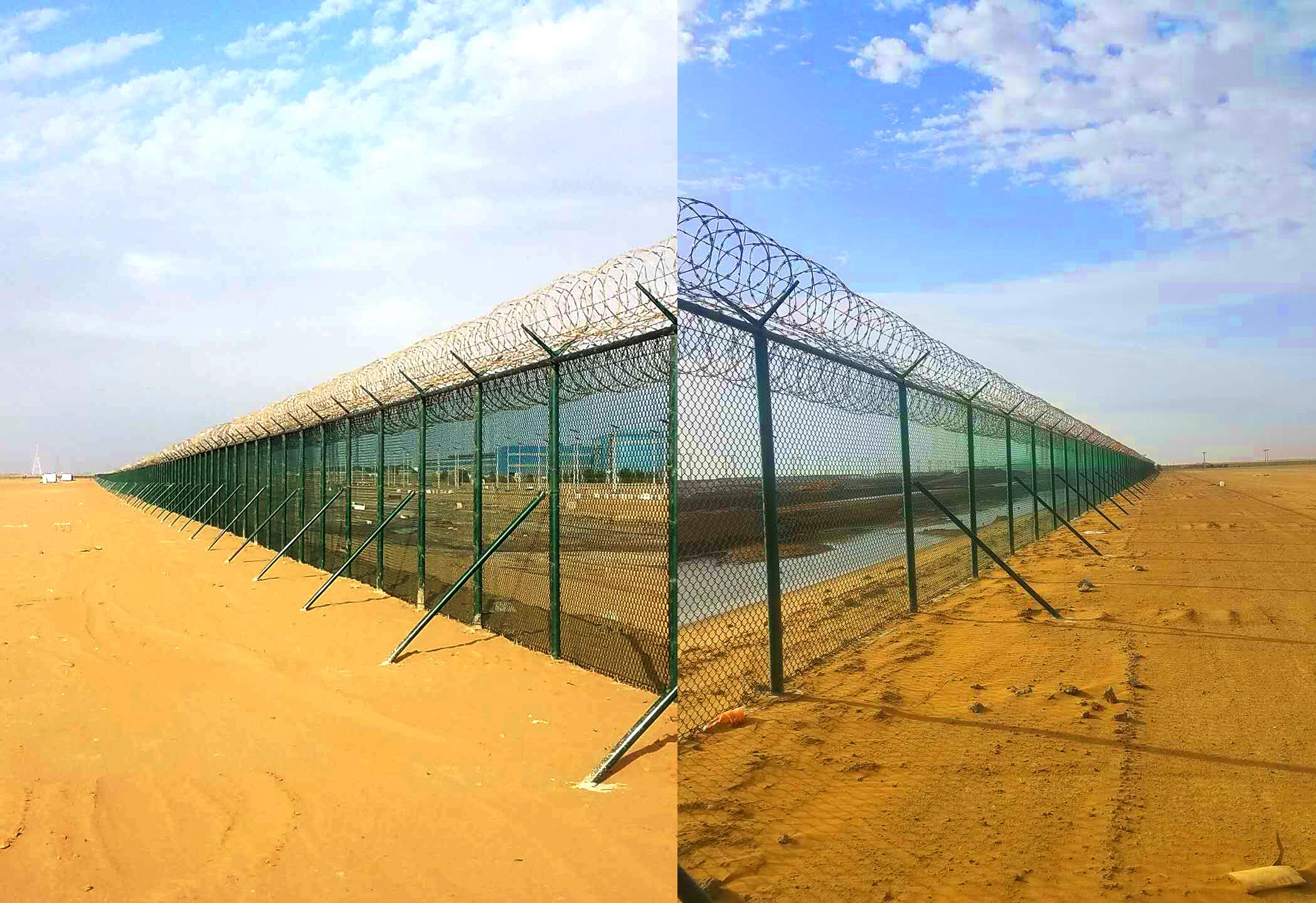 沙特項目現場永久性圍欄已全面竣工