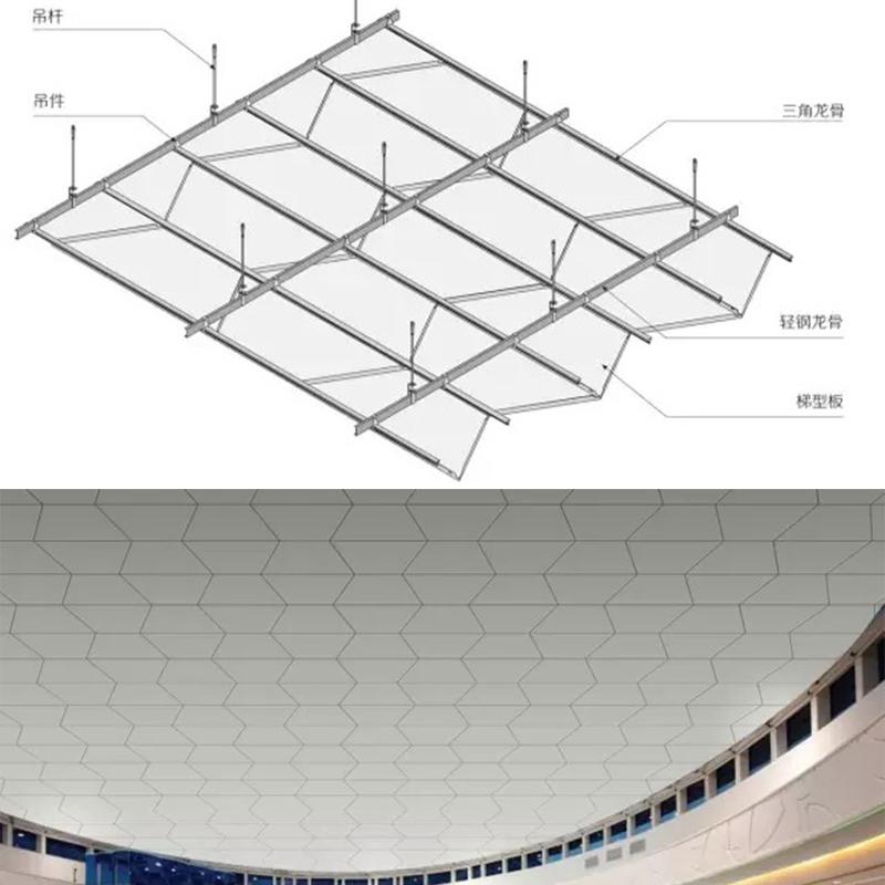 梯形板安装节点
