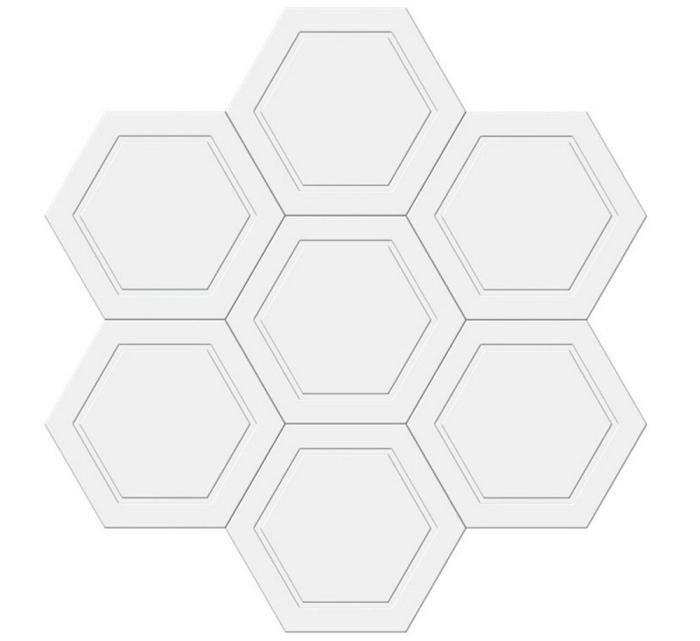 六边形板边线拼图