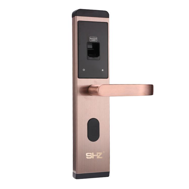 SHZ 日本神护者 SH-103 智能光学指纹密码锁 直板式轻薄简约款