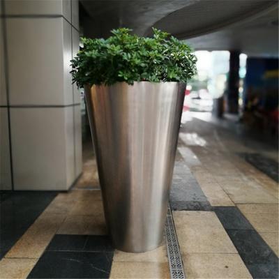 stainless steel flower pot