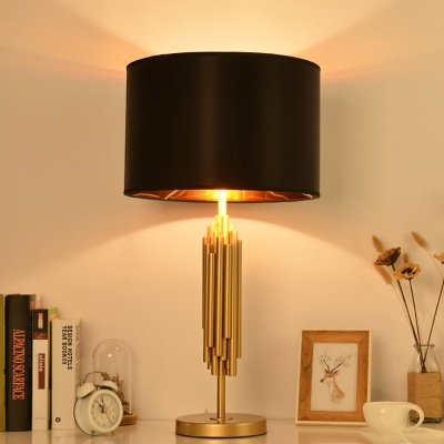 Hotel table lamp black cloth lampshade hotel bedside lamp