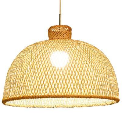 Chinese vintage Bamboo weaving bamboo nest antique Pendant Light