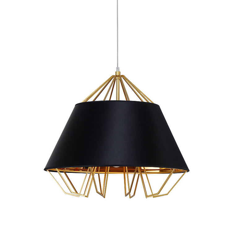 industrial black and white color chrome material iron lampshade for living room pendant lamp