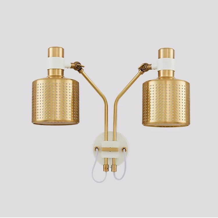 modern designer creative metal lamp personalized brass color decorative wall mount lamp