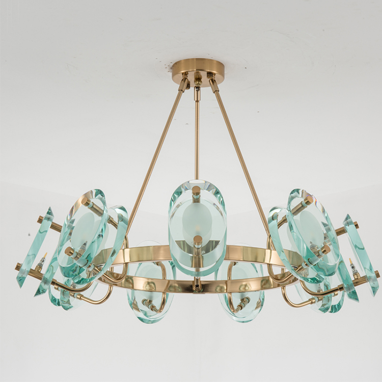 Simple design energy saving edison glass hanging chandelier fixtures