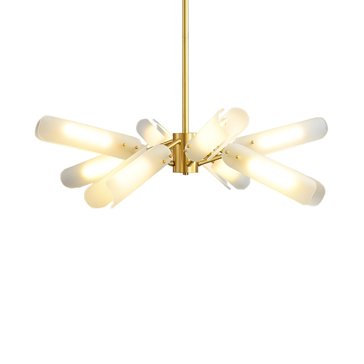 New product 2020 glass bamboo ceiling chandelier pendant light