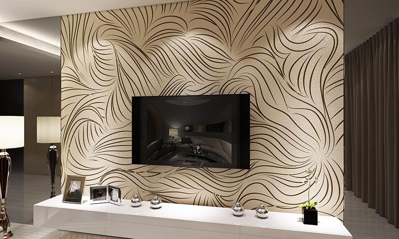 贝壳粉电视背景墙