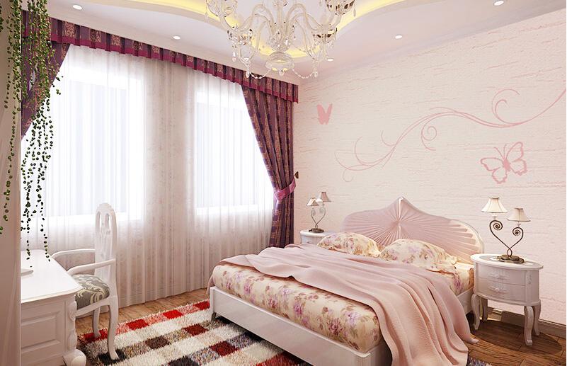 这是贝壳粉卧室床头图案
