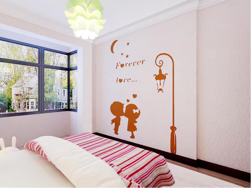 这是贝壳粉儿童房图片