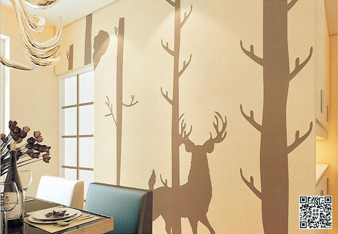 贝壳粉餐厅背景墙图片