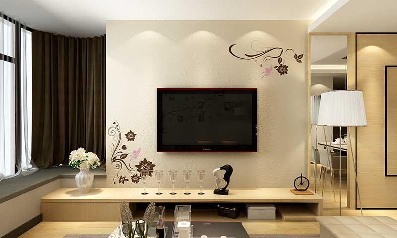 贝壳粉电视背景墙9